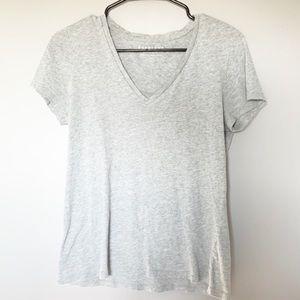 Everlane Grey V Neck Tee Shirt
